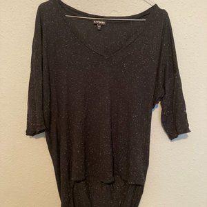 Oversized Speckled Quarter Length Shirt